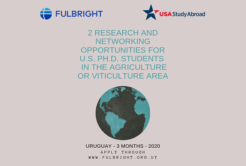 2 Research And Networking Opportunities For US Students In Uruguay In The Agriculture Or Viticulture Area